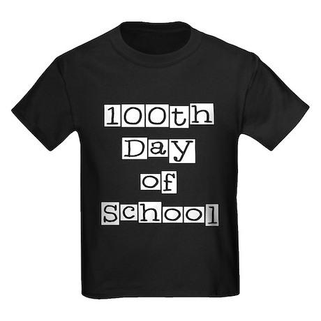 100th Day of School Kids Dark T-Shirt