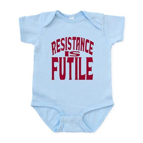 Resistance is Futile (red text) Infant Bodysuit