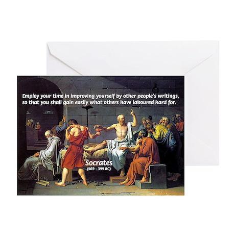 Socrates: Knowledge Books Wisdom Greeting Cards (P