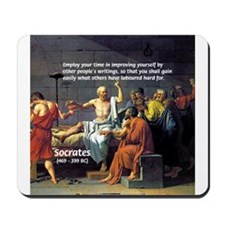 Socrates: Knowledge Books Wisdom Mousepad
