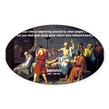 Socrates: Knowledge Books Wisdom Oval Decal