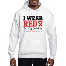 I Wear Red Daughter Hoodie