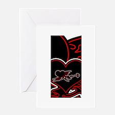 Ebony Heart Greeting Card