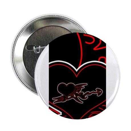 "Ebony Heart 2.25"" Button"