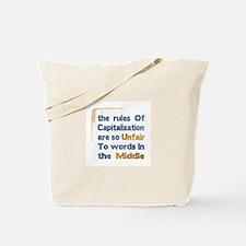 Capitalization - Tote Bag