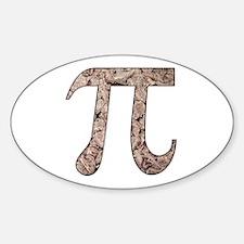 Chocolate Pi Oval Decal