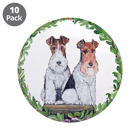 "Fox Terrier Crest 3.5"" Button (10 pack)"