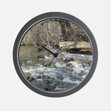 Duck in River Wall Clock