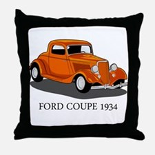 Ford Coupe 1934 Throw Pillow