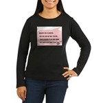 Bio and Adopted Women's Long Sleeve Dark T-Shirt