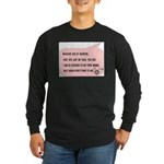 Bio and Adopted Long Sleeve Dark T-Shirt