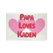 Papa Loves Kaden Rectangle Magnet