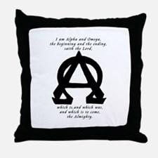Alpha and omega Throw Pillow