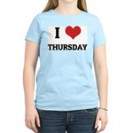 I Love Thursday Women's Pink T-Shirt