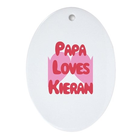 Papa Loves Kieran Oval Ornament