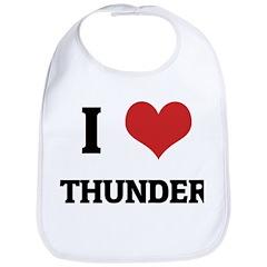 I Love Thunder Bib