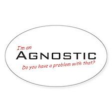 Agnostic / Problem! Oval Decal