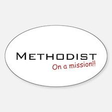 Methodist / Mission! Oval Decal