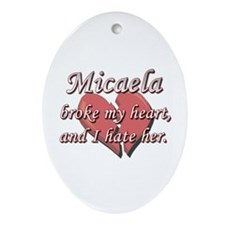 Micaela broke my heart and I hate her Ornament (Ov
