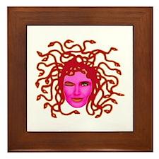 Cute Medusa Framed Tile