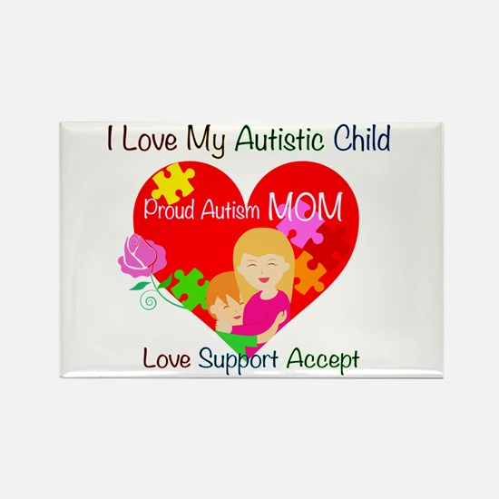 I Love My Autistic Child Rectangle Magnet