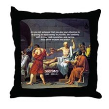 Truth and Wisdom: Socrates Throw Pillow