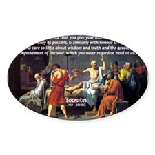 Truth and Wisdom: Socrates Oval Decal