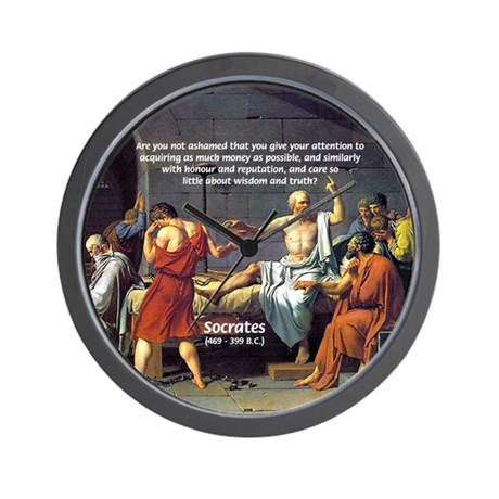Truth and Wisdom: Socrates Wall Clock