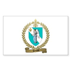 HENAUD Family Crest Rectangle Decal