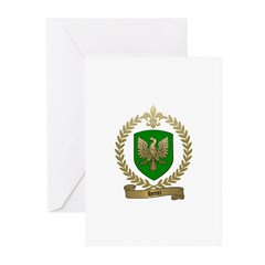 HENRI Family Crest Greeting Cards (Pk of 10)