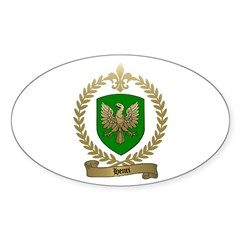 HENRI Family Crest Oval Decal