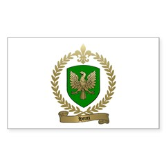 HENRI Family Crest Rectangle Decal