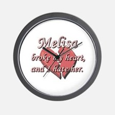 Melisa broke my heart and I hate her Wall Clock