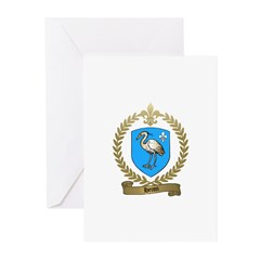 HERON Family Crest Greeting Cards (Pk of 10)