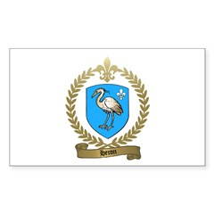 HERON Family Crest Rectangle Decal