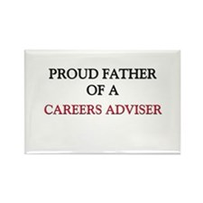 Proud Father Of A CAREERS ADVISER Rectangle Magnet