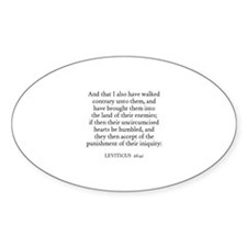 LEVITICUS 26:41 Oval Decal