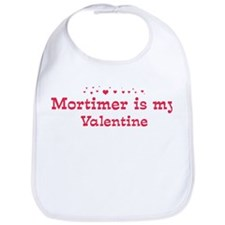 Mortimer is my valentine Bib