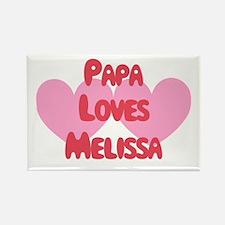 Papa Loves Melissa Rectangle Magnet