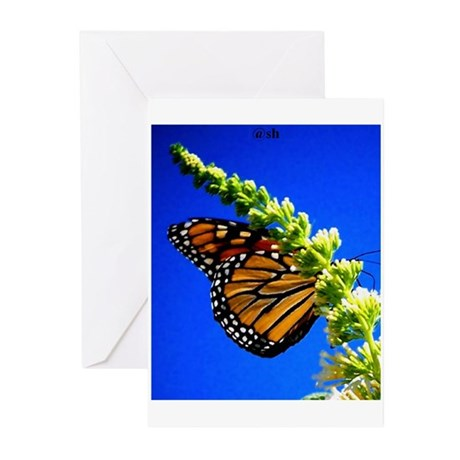 butterfly flowers Greeting Cards (Pk of 10)