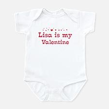 Lisa is my valentine Infant Bodysuit