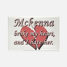 Mckenna broke my heart and I hate her Rectangle Ma