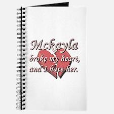Mckayla broke my heart and I hate her Journal