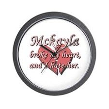 Mckayla broke my heart and I hate her Wall Clock