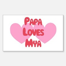 Papa Loves Mya Rectangle Decal