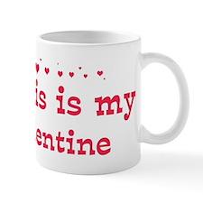 Kurtis is my valentine Small Small Mug