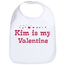 Kim is my valentine Bib