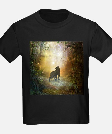 The lonely wolf in the night T-Shirt