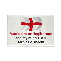 Married To An Englishman Rectangle Magnet
