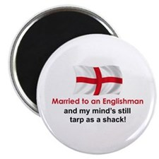 """Married To An Englishman 2.25"""" Magnet (10 pac"""